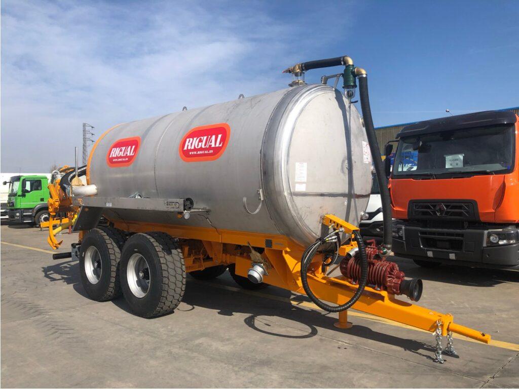 Cuba Rigual de 14000 litros en Inoxidable con inyector de purines
