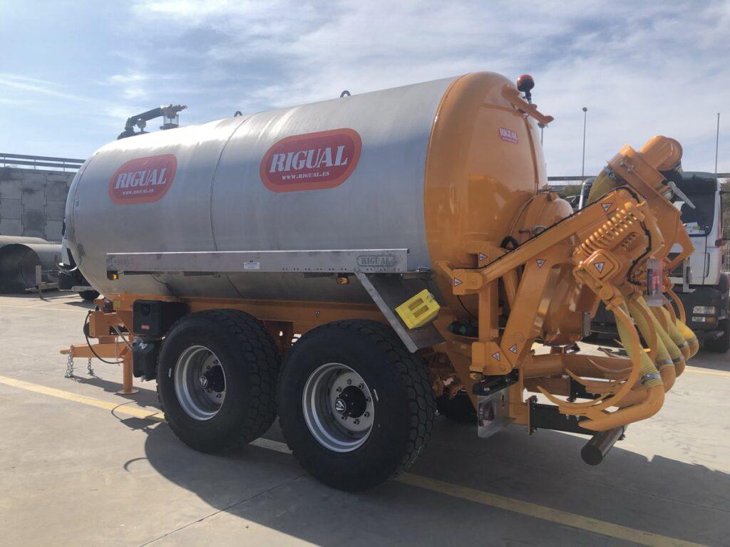 Cisterna Rigual de 14000 litros en Inoxidable con inyector de purines