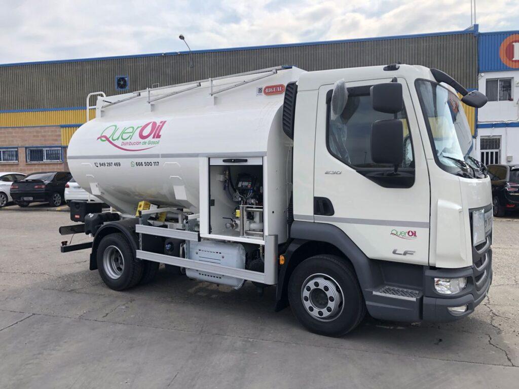 Cisterna Rigual de 7500 litros para el reparto de Gas-oil