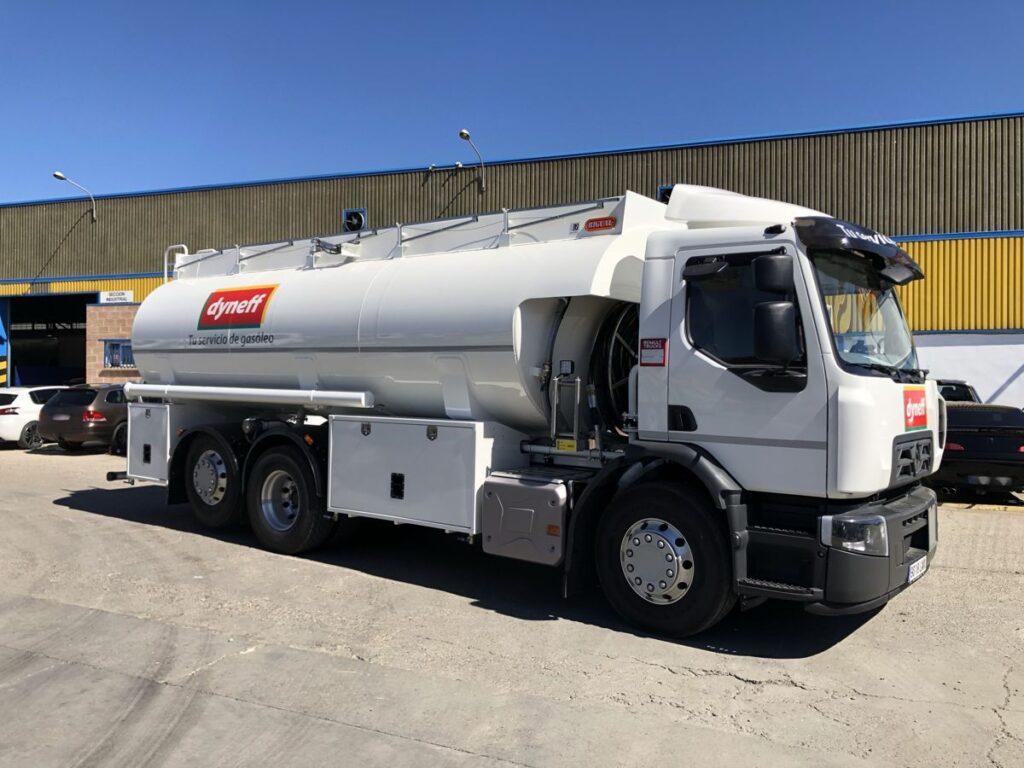 Cisterna Rigual de 20000 litros para reparto de gas-oil y gasolinas sobre chasis