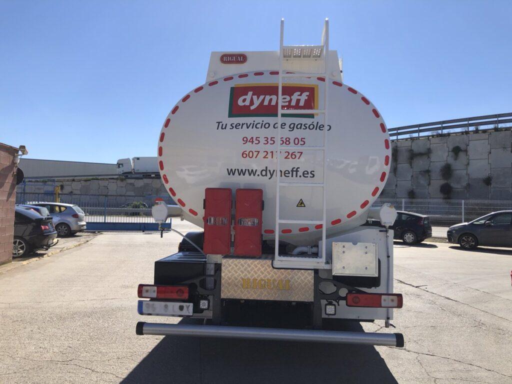 Cisterna Rigual de 20000 litros para reparto de gasoils y gasolinas