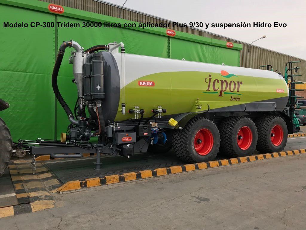 Cisterna Rigual CP-300 InoxTridem 30000 litros con aplicador Plus 9_30 y suspensión Hidro Evo