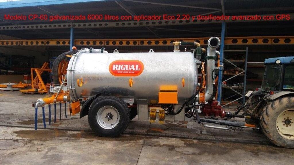 cuba rigual modelo CP-60 6000 litros con Eco 2,20 con dosificador avanzado y GPS