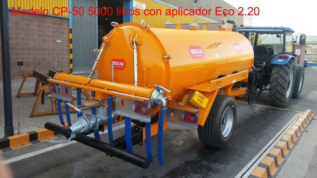 Cuba Rigual Model CP-50 5000 litros con Aplicador ECO 220 8 MODO T