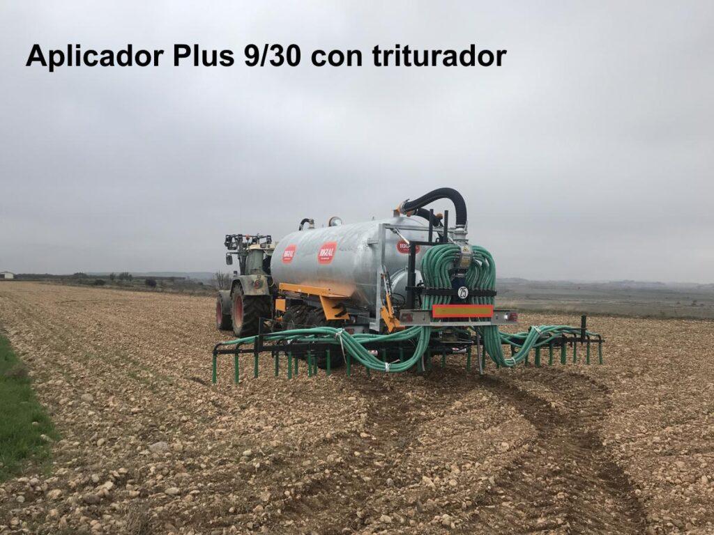 Aplicador Rigual modelo Plus 9_30 con triturador