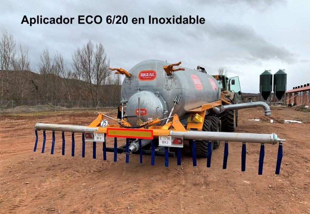 Aplicador Rigual modelo ECO 6_20 en Inoxidable