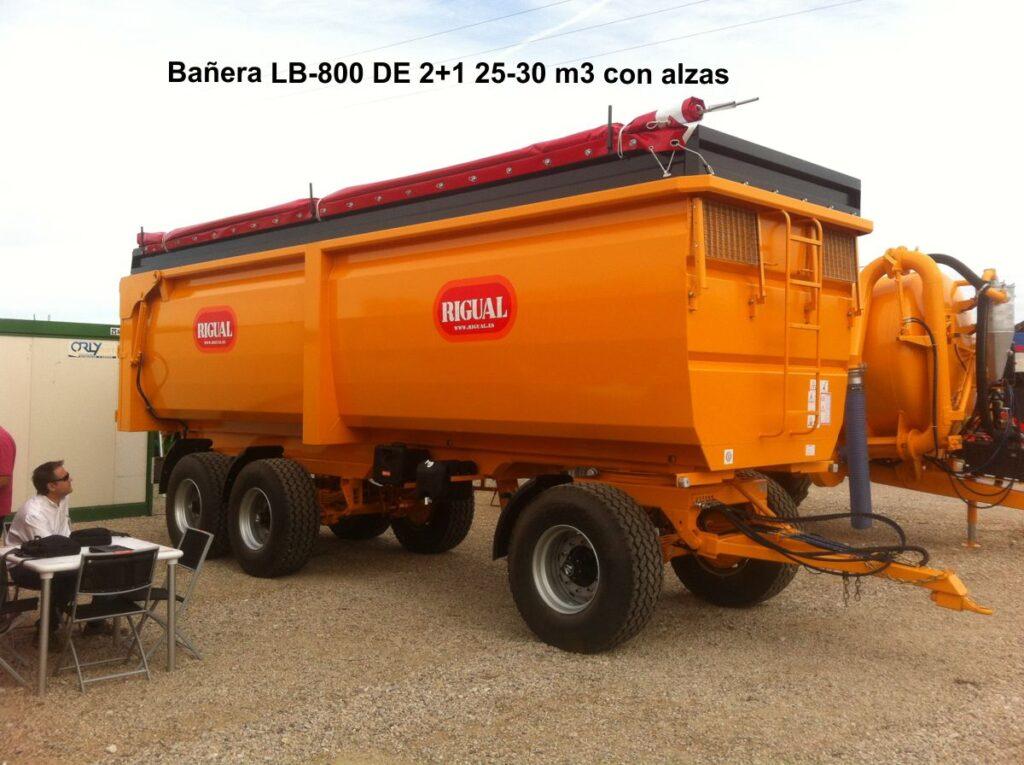 Bañera rigual LB-800 DE 2+1 25-30 m3 con alzas