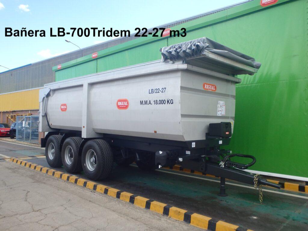 Bañera agrícola rigual LB-700 Tridem 22-27 m3