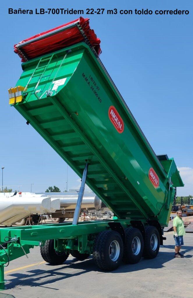Bañera rigual LB-700Tridem 22-27 m3 con toldo corredero