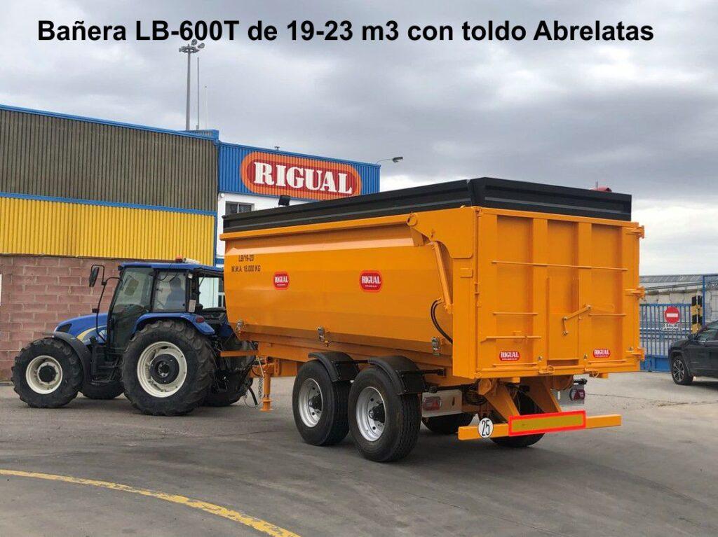 Bañera rigual LB 600 T 19-23 m3 toldo abrelatas