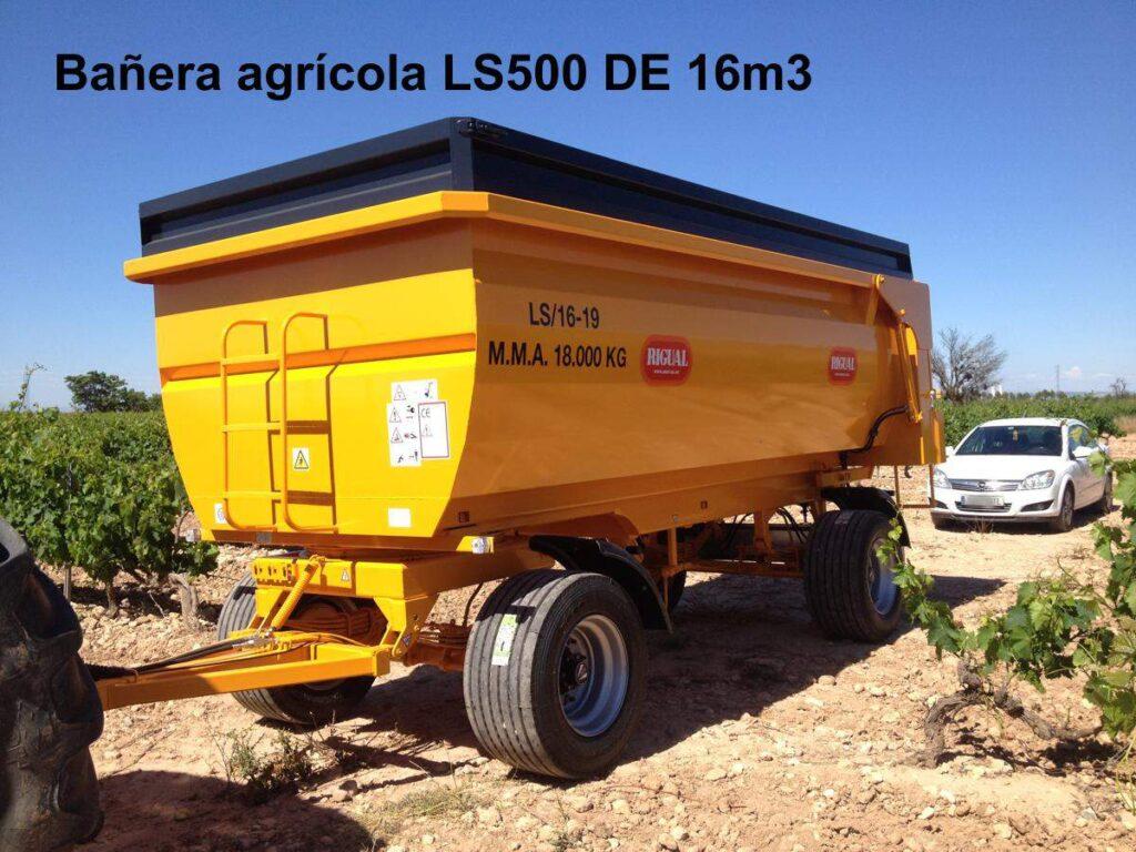 Bañera agrícola rigual LS500 DE 16m3
