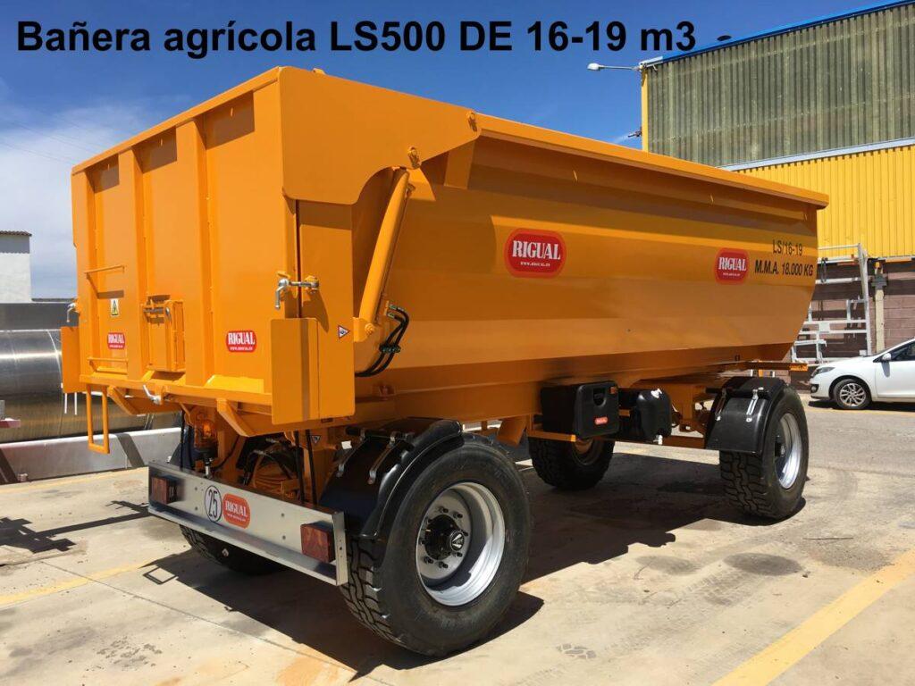 Bañera agrícola Rigual Ls500 DE 16-19 m3