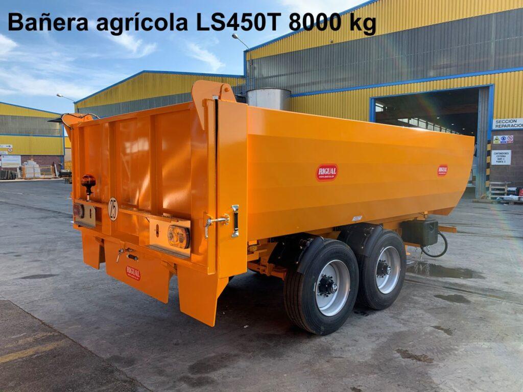 Bañera agrícola rigual LS450T 8000 kg