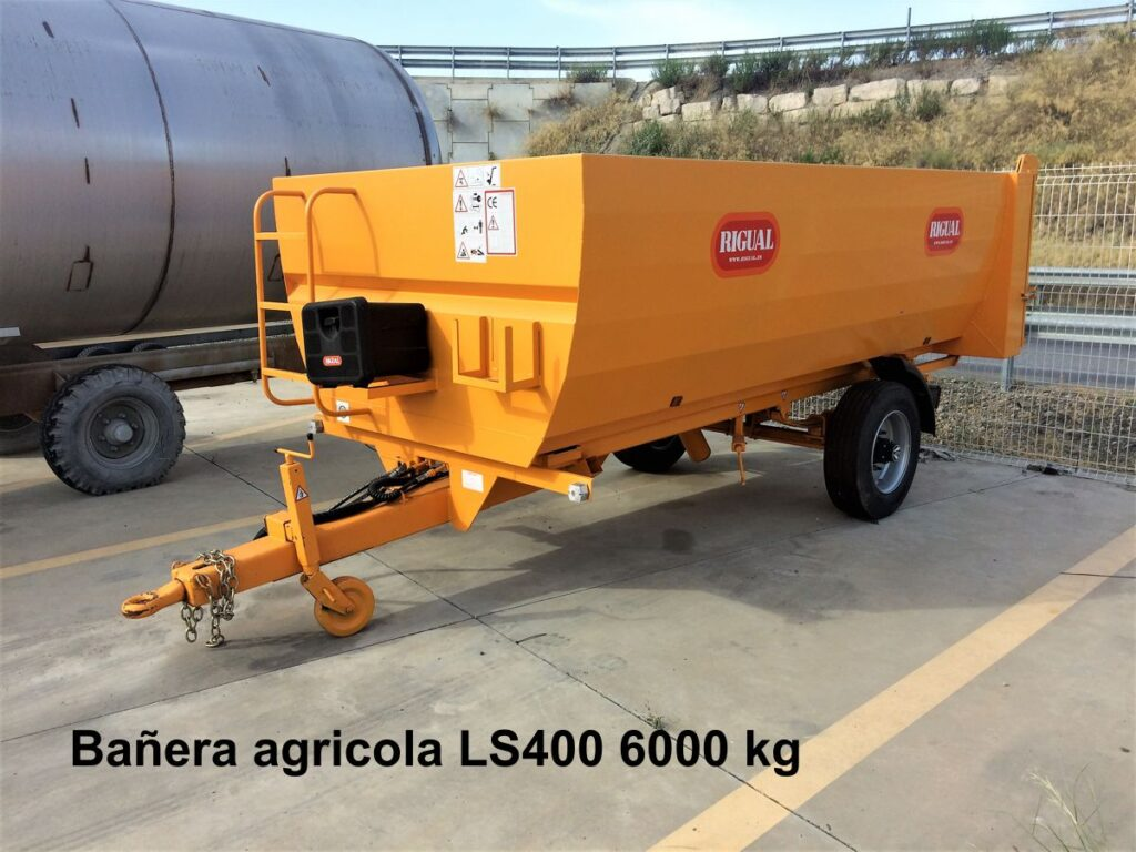 Bañera agricola rigual LS400 6000 kg