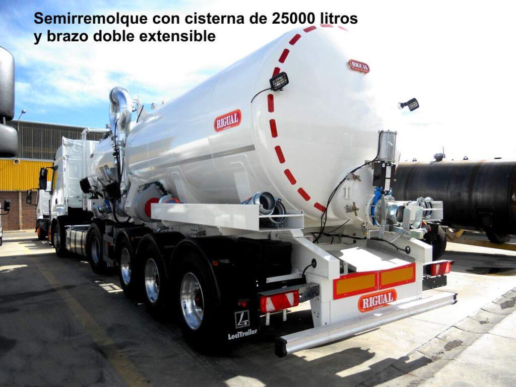 Semirremolque de 25000 litros con cisterna rigual