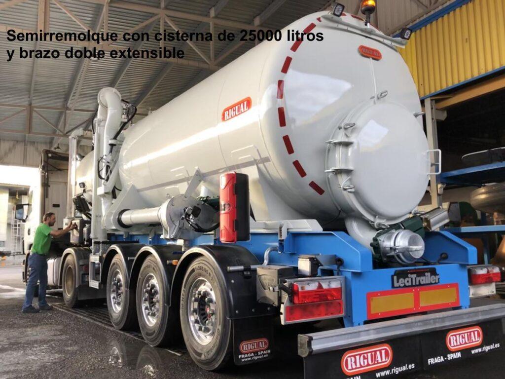 Semirremolque con rigual de cisterna de 25000 litros