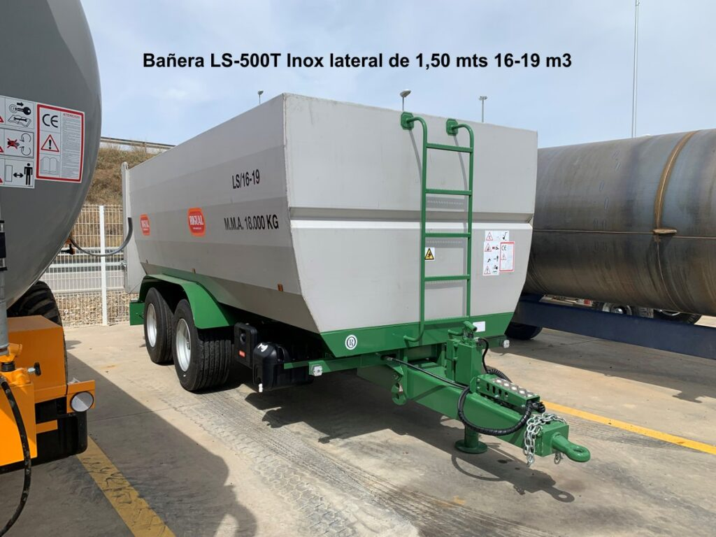 Bañera rigual LS-500T Inox lateral de 1,50 mts