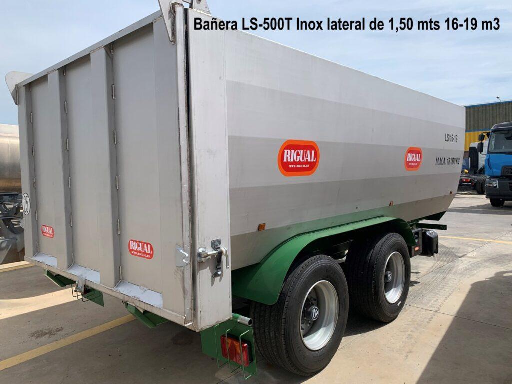 Bañera LS-500T Inox lateral de 1,50 mts rigual