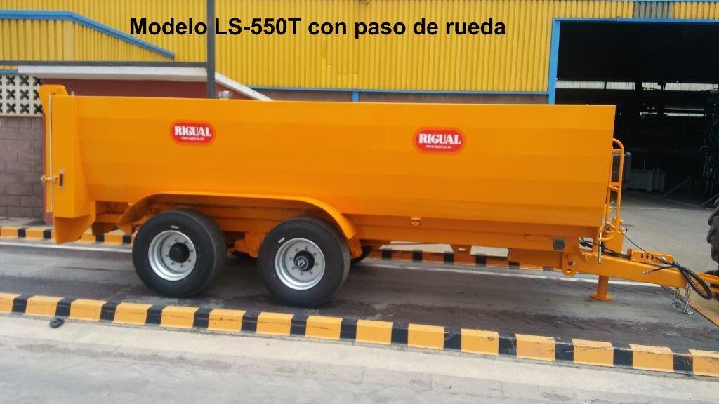 Bañera agrícola viña rigual LS-550T CON PASO DE RUEDA