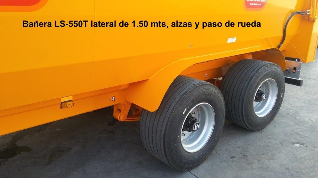 Bañera viña rigual tandem LS-550T LATERAL DE 1.50 MTS + ALZAS DE 30 CM +PASO DE RUEDA
