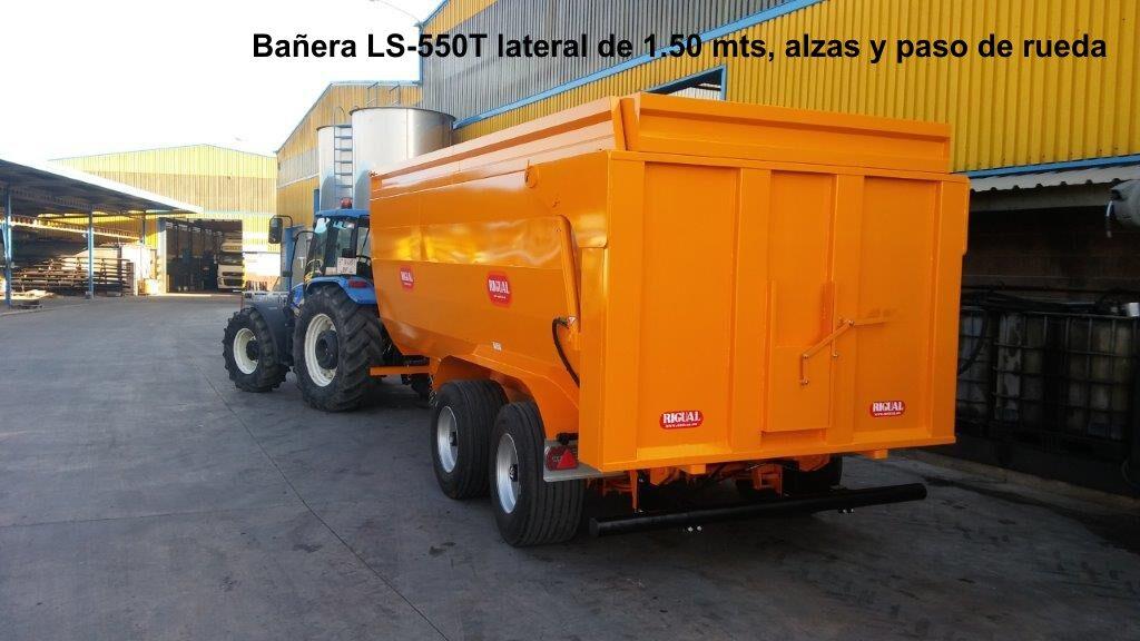 Bañera rigual para viña tandem LS-550T LATERAL DE 1.50 MTS + ALZAS DE 30 CM +PASO DE RUEDA