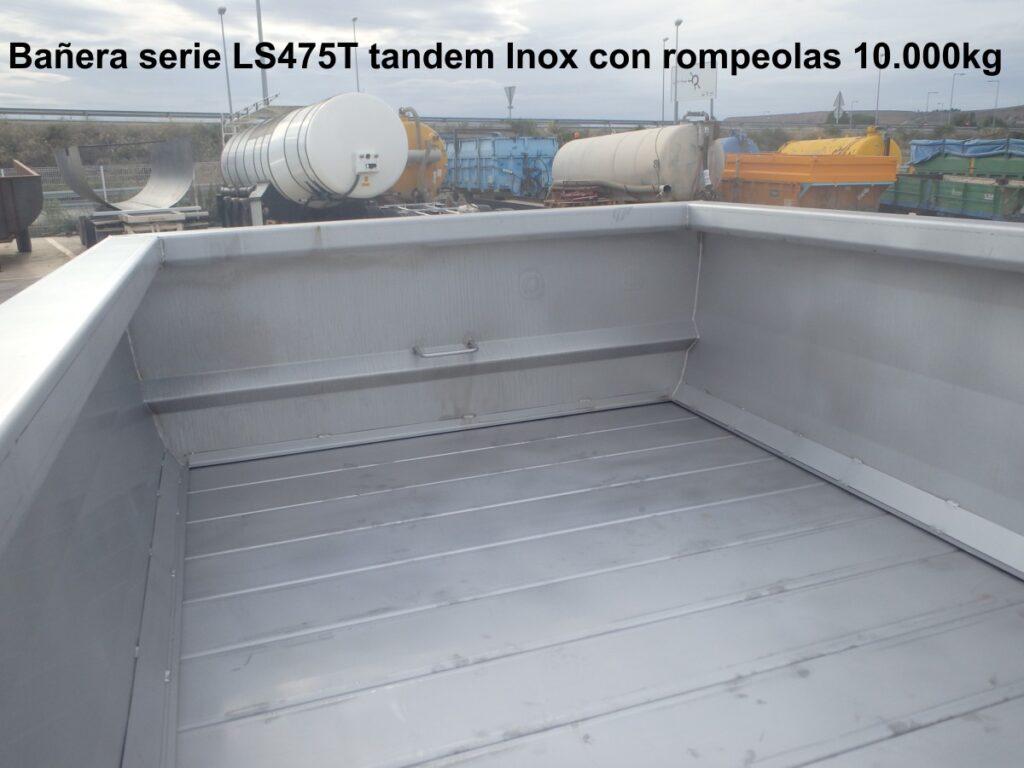 Bañera viña LS475T inox con rompeolas