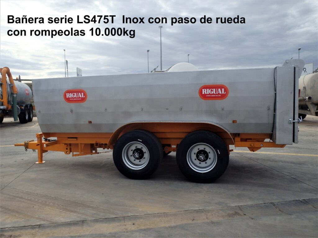 Bañera viña rigual LS475T inox con rompeolas