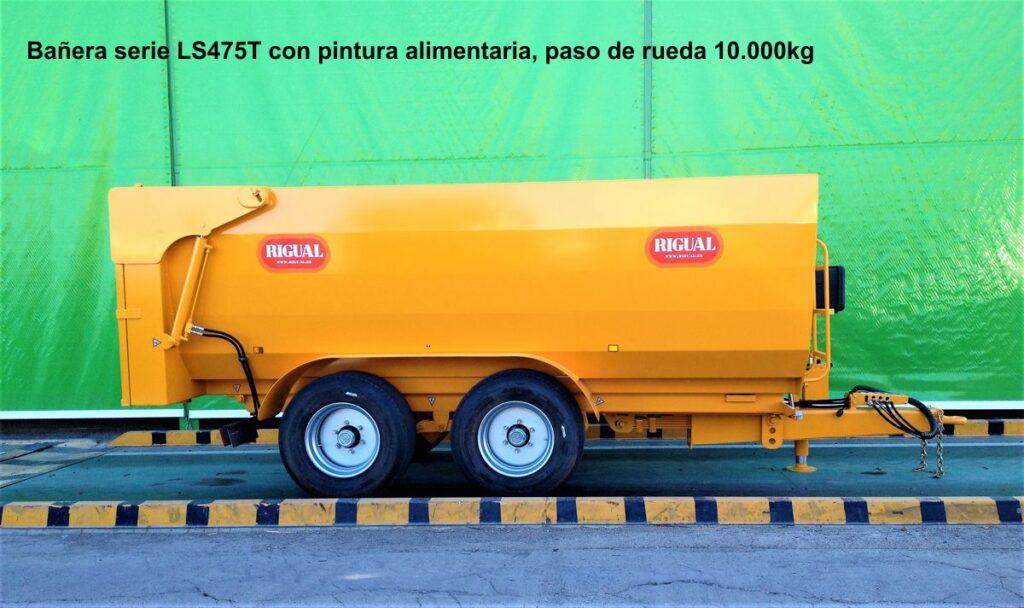 Bañera rigual especial viña LS475T Pintura alimentaria, paso de rueda 10.000kg Tandem