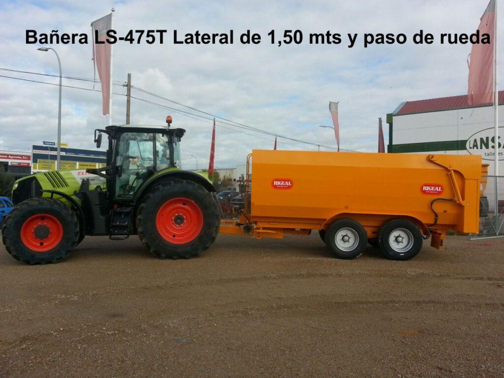 Bañera rigual especial viña LS-475T Lateral de 1,50 mts y paso de rueda