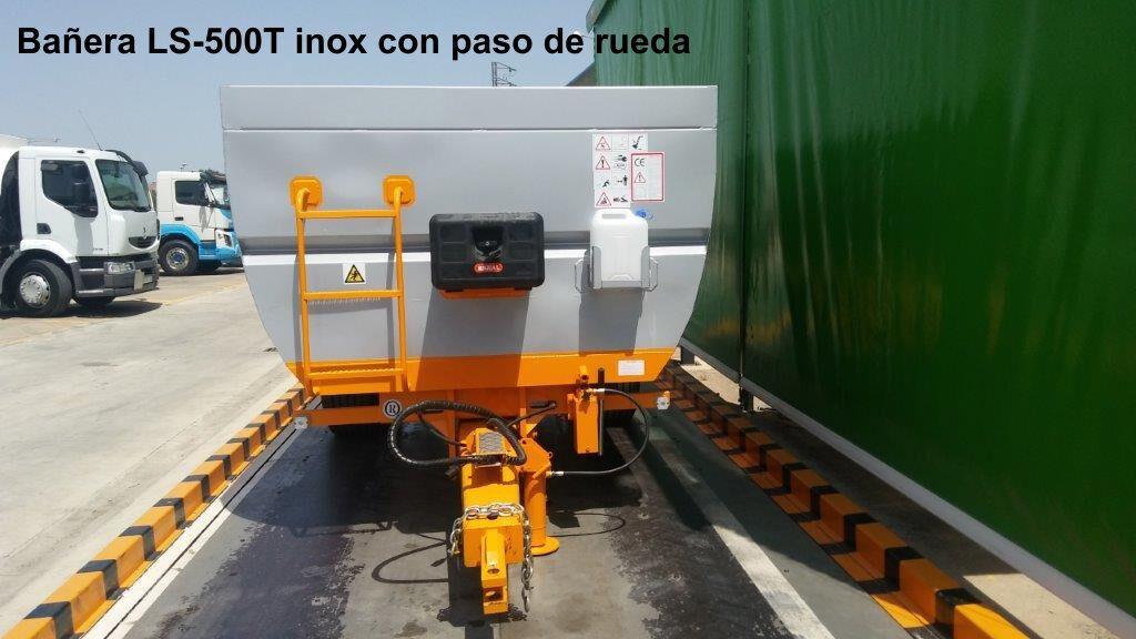 Bañera rigual viña LS-500T inox con paso de rueda