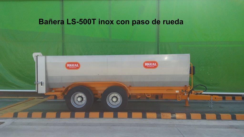 Bañera viña rigual LS-500T inox con paso de rueda