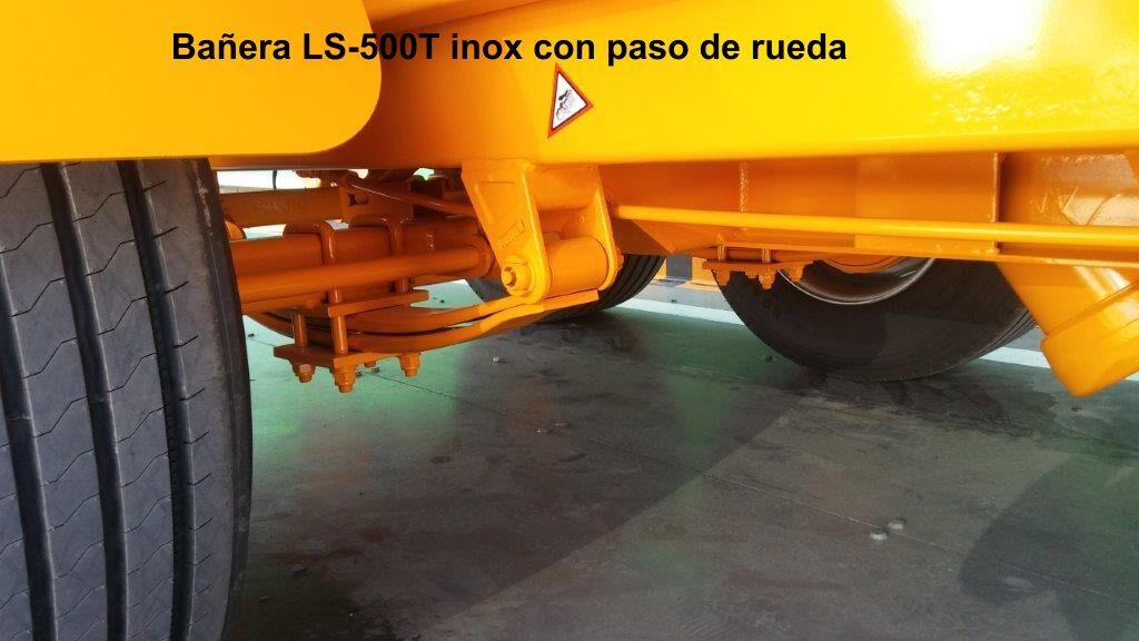 Remolque bañera viña rigual LS-500T inox con paso de rueda
