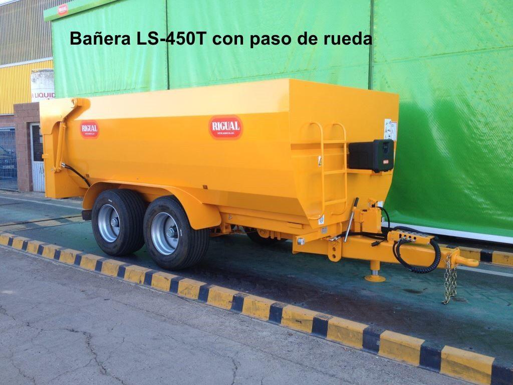 Remolque bañera rigual LS-450Tcon paso de rueda