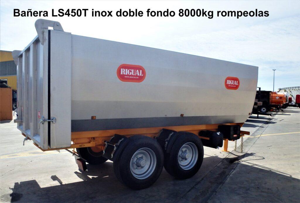 Bañera rigual LS450 Tandem inox con doble fondo 8000 kg
