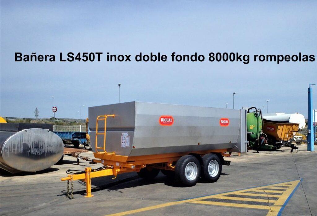 Bañera rigual LS450T Inoxidable con doble fondo