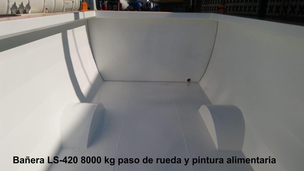 Bañera rigual LS-420 8000 KG PINTURA ALIMENTARIA Y PASO DE RUEDA