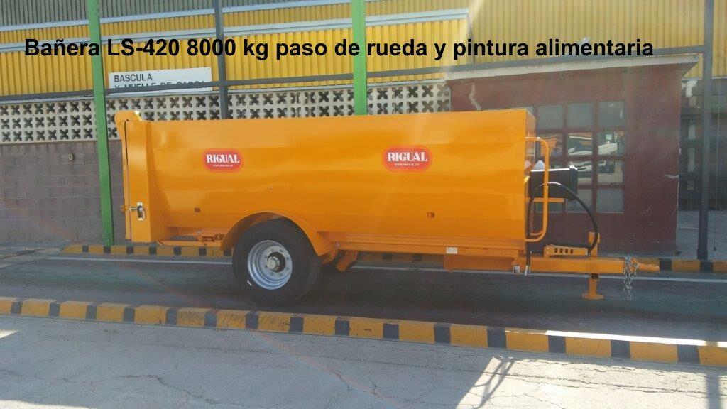 Bañera rigual viña LS-420 8000 KG PINTURA ALIMENTARIA Y PASO DE RUEDA