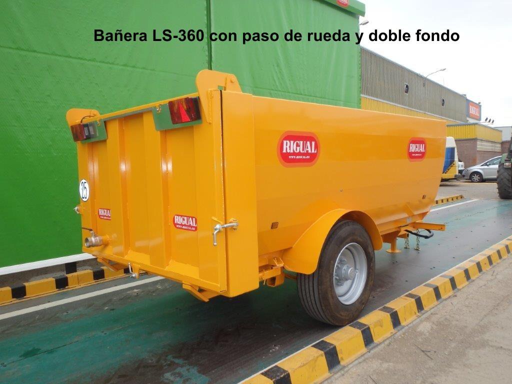 Bañera rigual LS-360 PASO DE RUEDA Y DOBLE FONDO