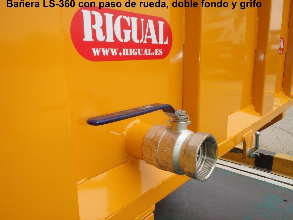 Remolque bañera viña rigual LS-360 PASO DE RUEDA Y DOBLE FONDO
