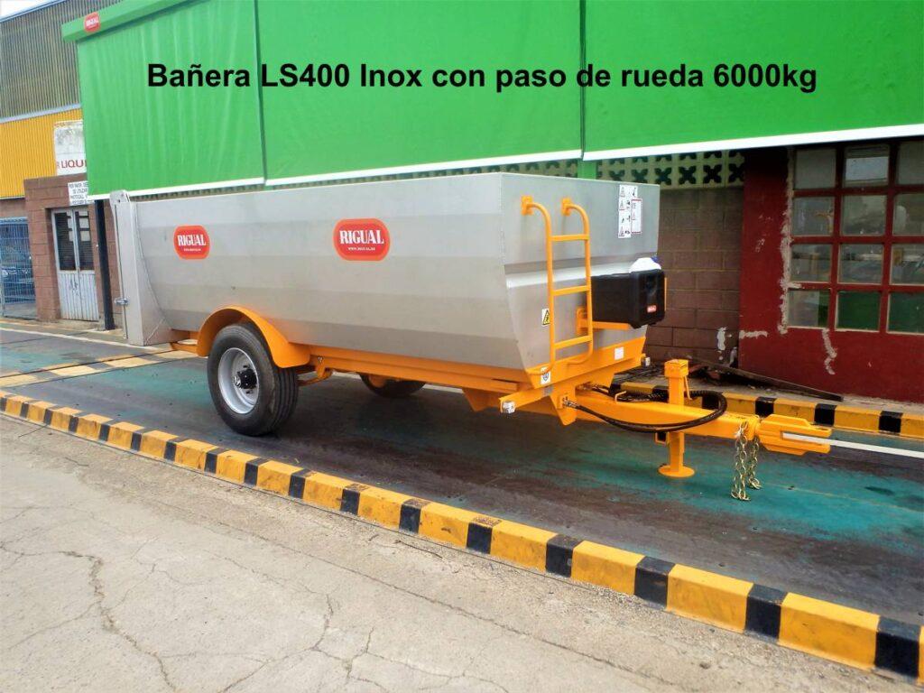 Bañera rigual LS400 Inox con paso de rueda de 6000 kg