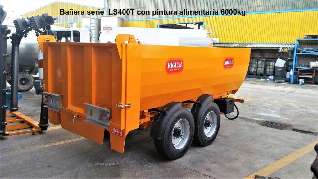Bañera rigual serie L especial Viña LS400T Pintura alimentaria, 6000kg