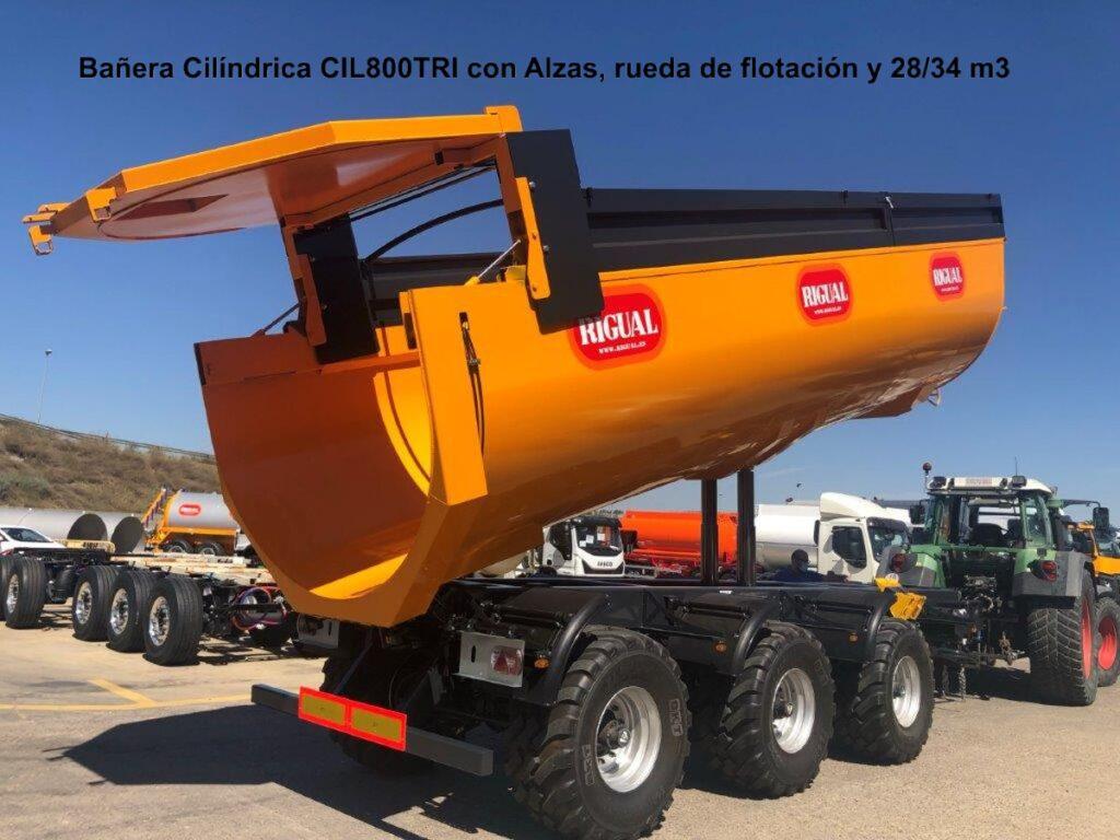 Bañera Cilíndrica rigual CIL-800 28/34 m3 Suspensión Hidráulica