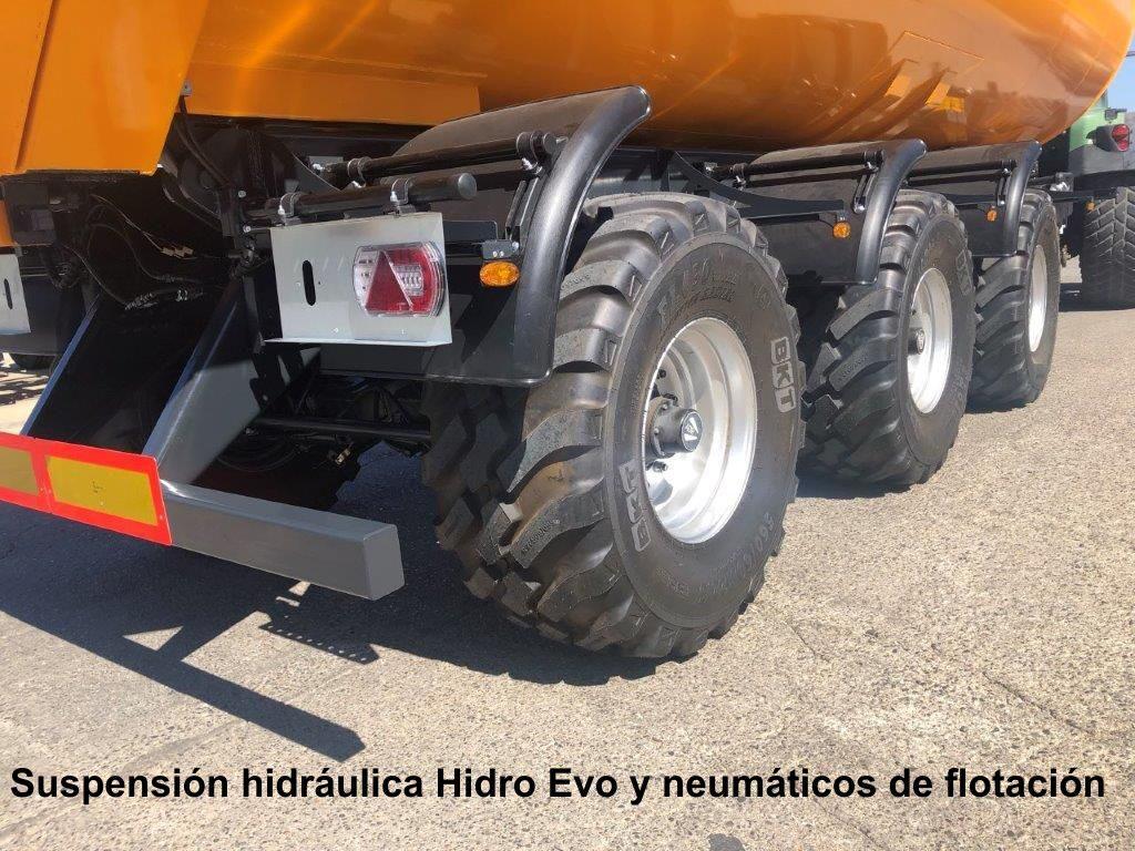 Bañera Cilíndrica CIL-800 28 34 M3 Suspensión Hidráulica Detalle Ruedas