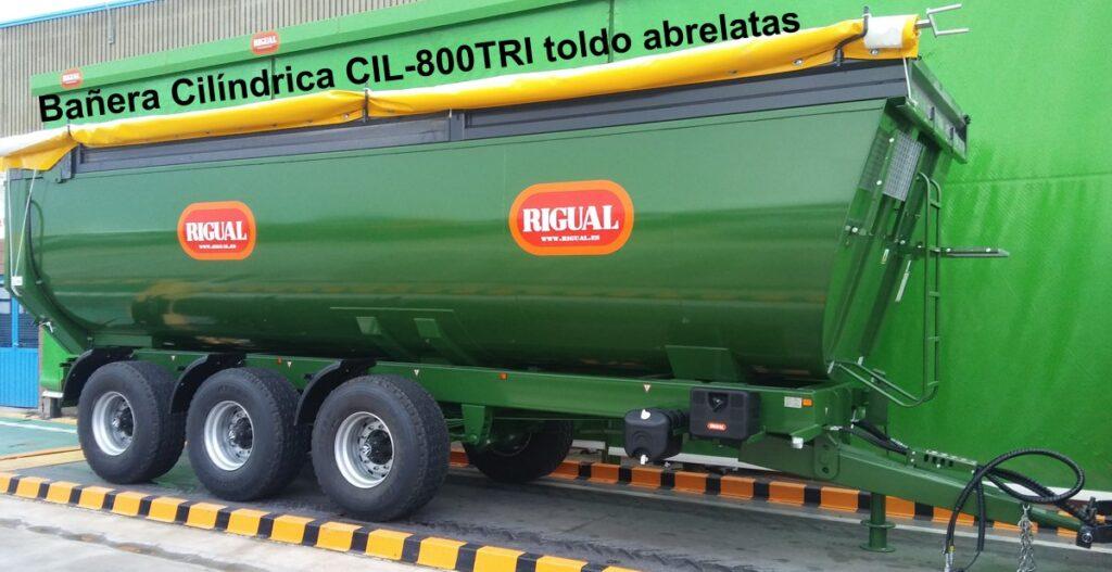 Bañera Cilíndrica CIL-800TRI 24.000 KGS. TOLDO ABRELATAS