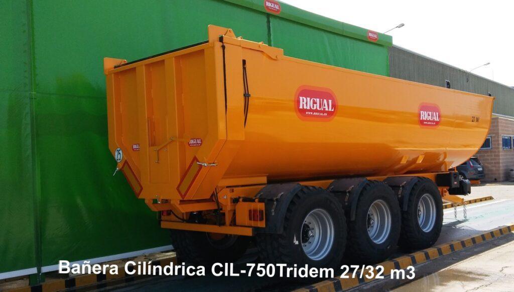 Bañera rigual Cilíndrica CIL-750 TRIDEM 26.5 32 M3