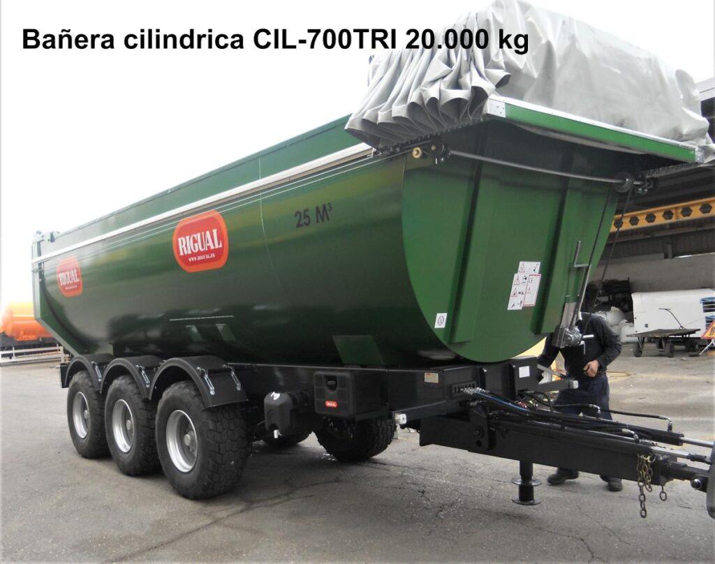 Bañera cilÍndrica RIGUAL 20.000kg CIL-700TRI