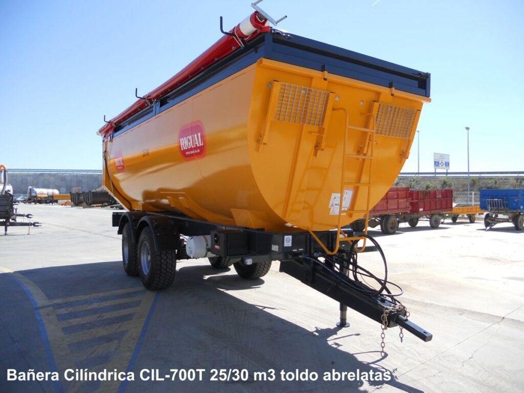 Bañera RIGUAL Cilíndrica CIL-700 2525 30 M3 MBT-20 Cil. toldo abrelatas