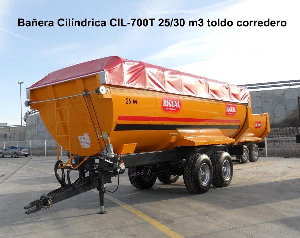 Bañera Cilíndrica RIGUAL CIL-700 2525 30 M3 MBT-20 Cil. toldo corredero