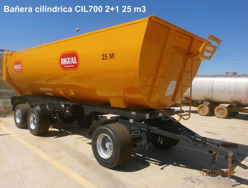 Bañera rigual cilíndrica CIL700 2+1