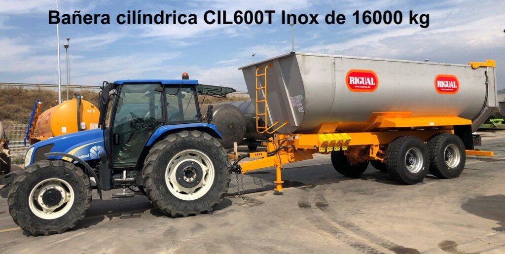 Bañera agrícola rigual Cilíndrica CIL600T INOX